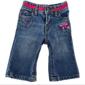 OshKosh B'Gosh Baby Embroidered Heart Jeans Sz 3M